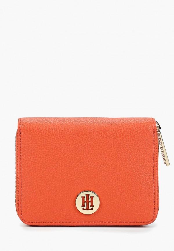женский кошелёк tommy hilfiger, оранжевый