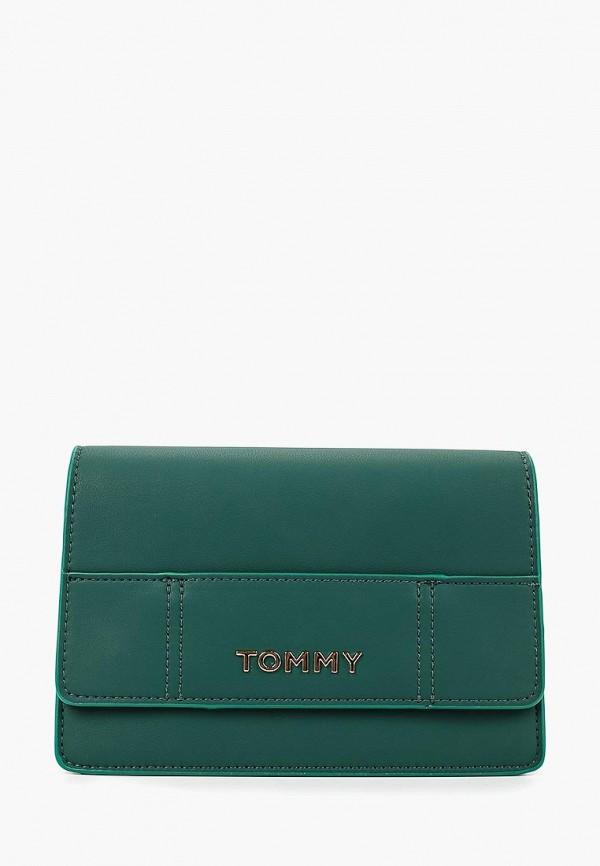 женская сумка tommy hilfiger, зеленая