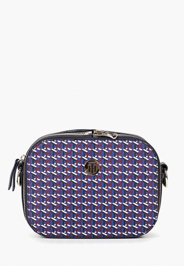 женская сумка tommy hilfiger, синяя