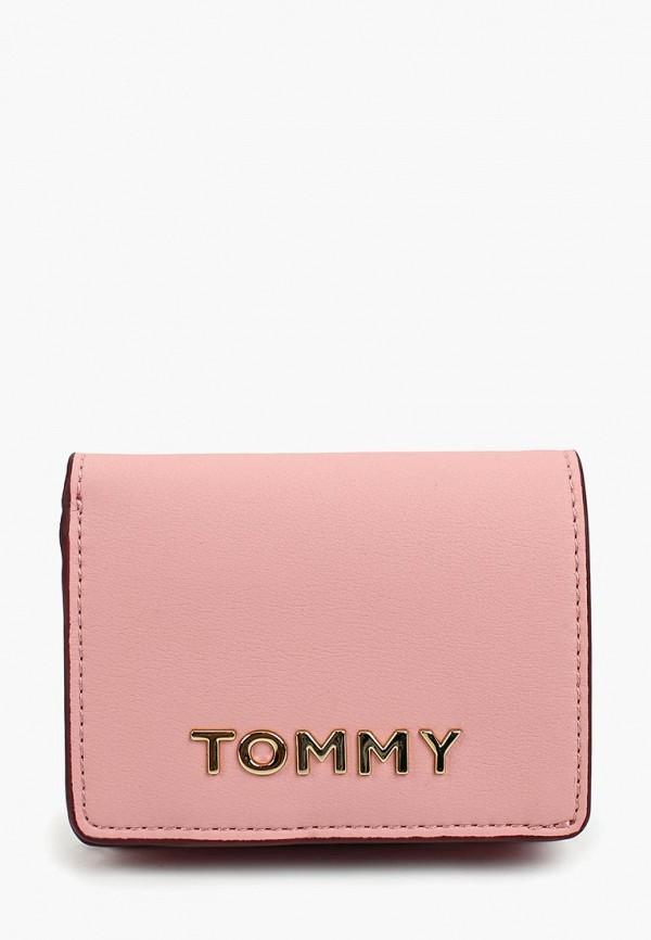 женский кошелёк tommy hilfiger, розовый