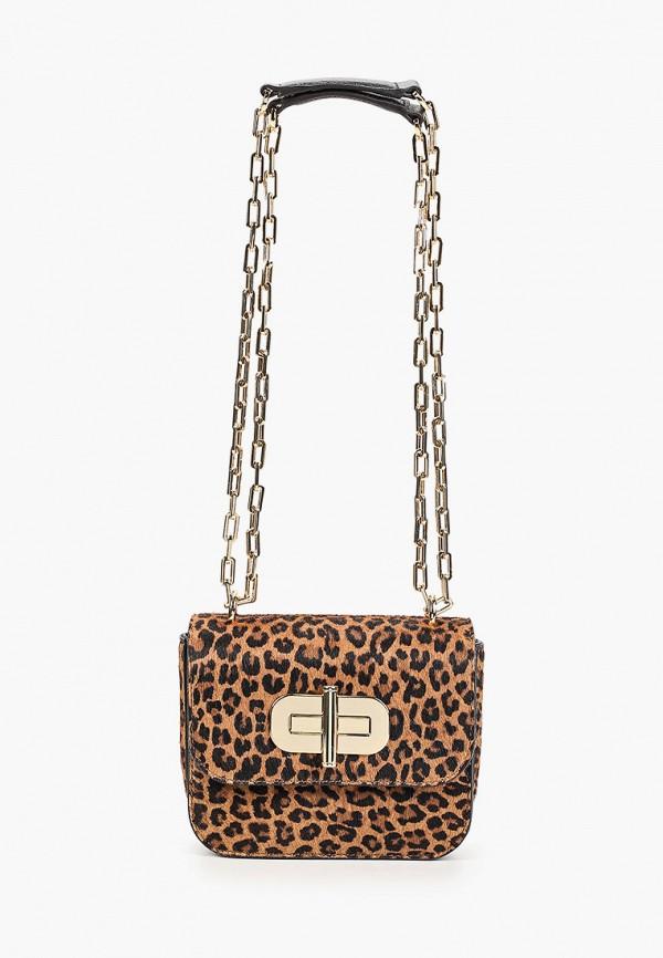 женская сумка tommy hilfiger, коричневая