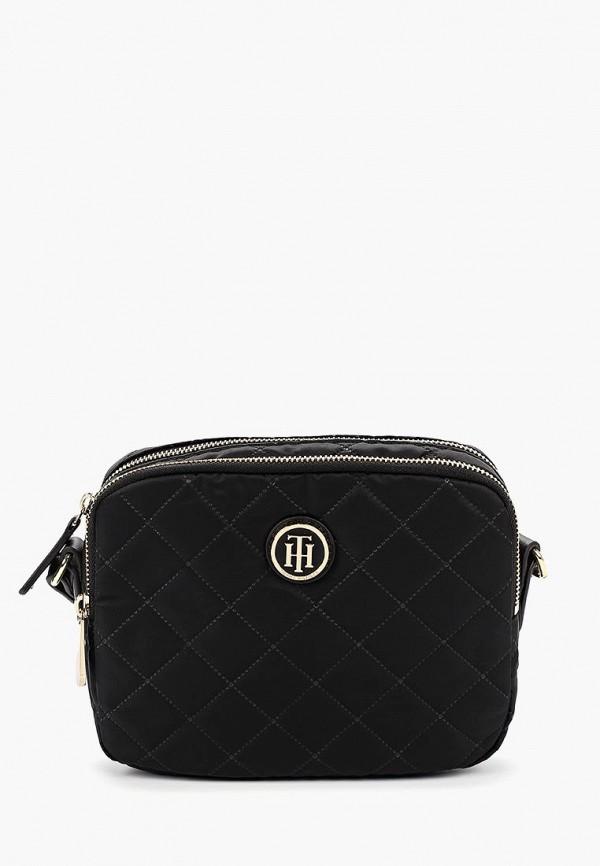 женская сумка tommy hilfiger, черная