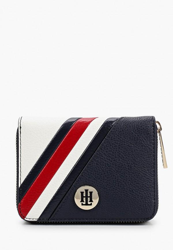 женский кошелёк tommy hilfiger, синий