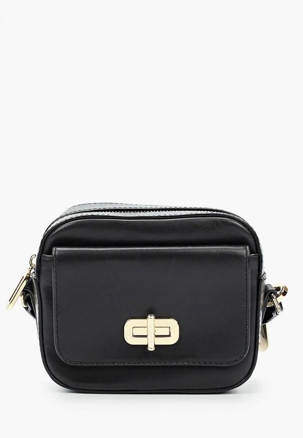 женская сумка через плечо tommy hilfiger, черная