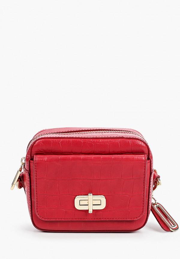 женская сумка tommy hilfiger, красная