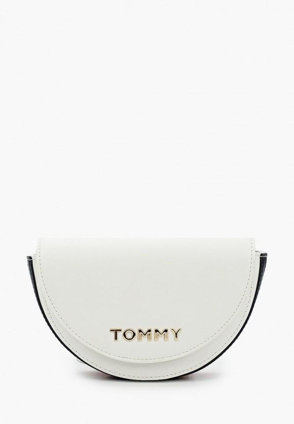 женская сумка tommy hilfiger, белая