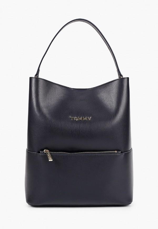 женский рюкзак tommy hilfiger, синий