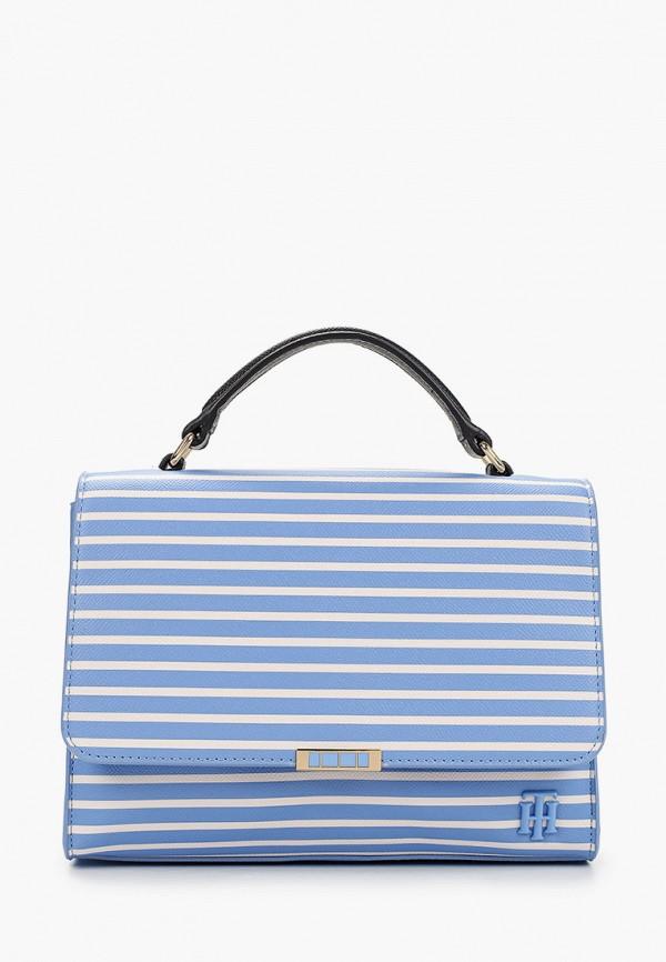 женская сумка tommy hilfiger, голубая