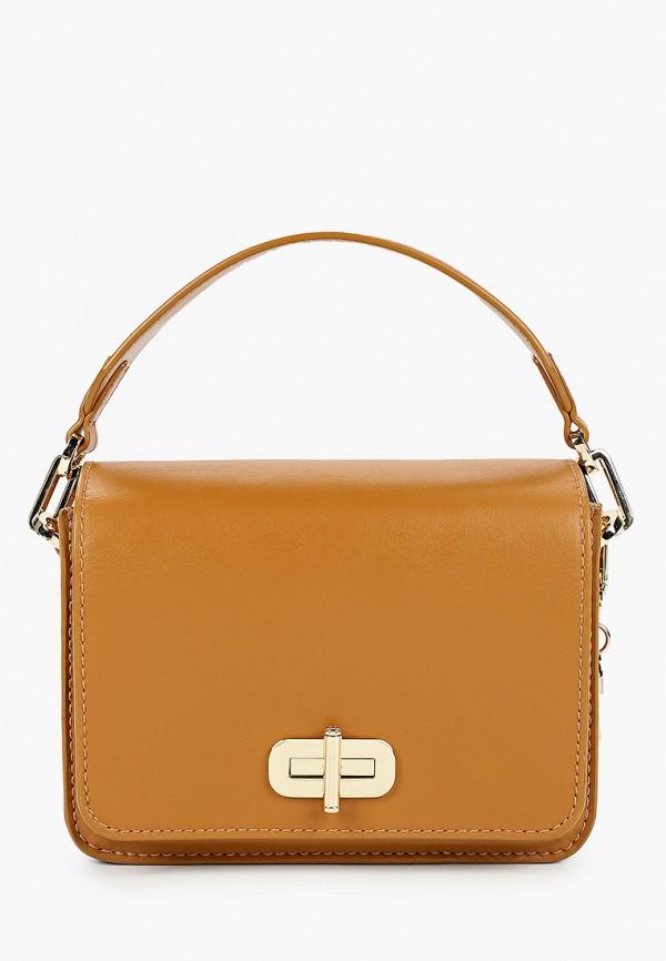 женская сумка через плечо tommy hilfiger, коричневая