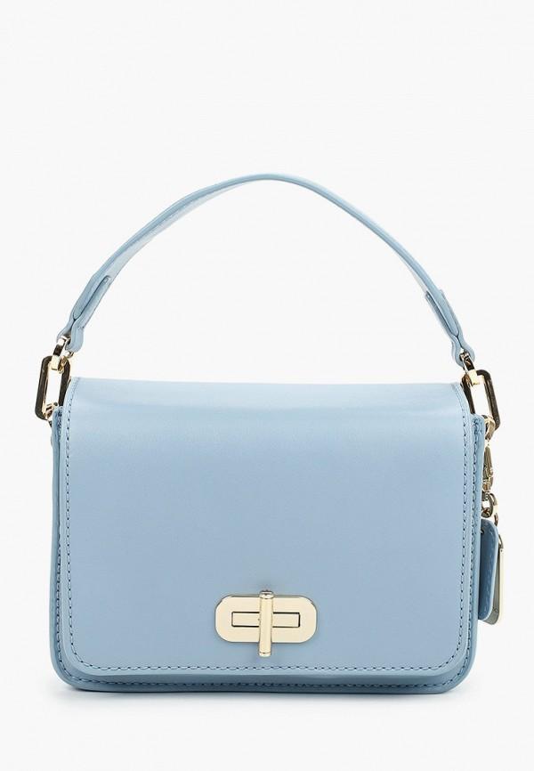 женская сумка через плечо tommy hilfiger, голубая