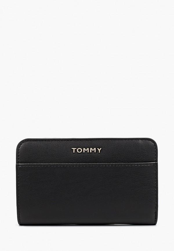 женский кошелёк tommy hilfiger, черный