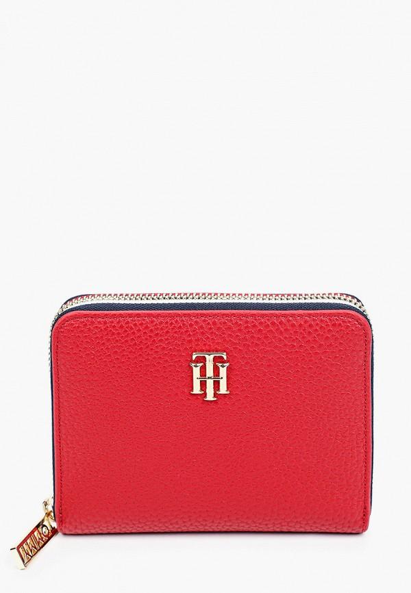 женский кошелёк tommy hilfiger, красный