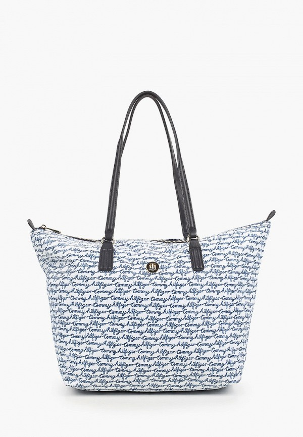 женская сумка-шоперы tommy hilfiger, белая