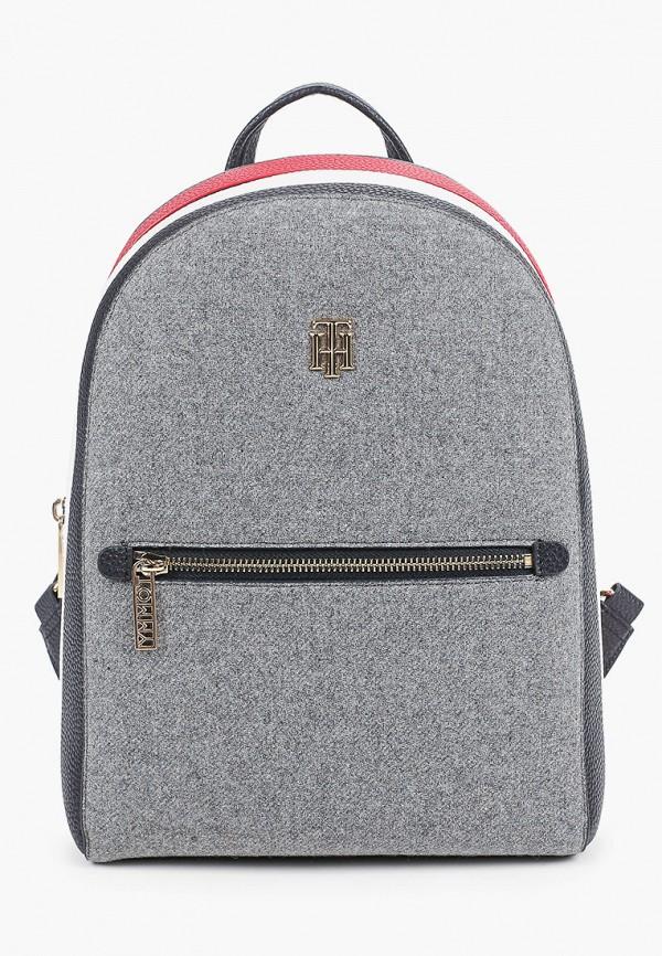 женский рюкзак tommy hilfiger, серый