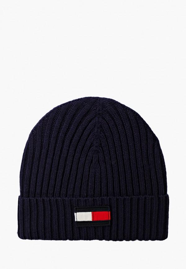 шапка tommy hilfiger для мальчика, синяя