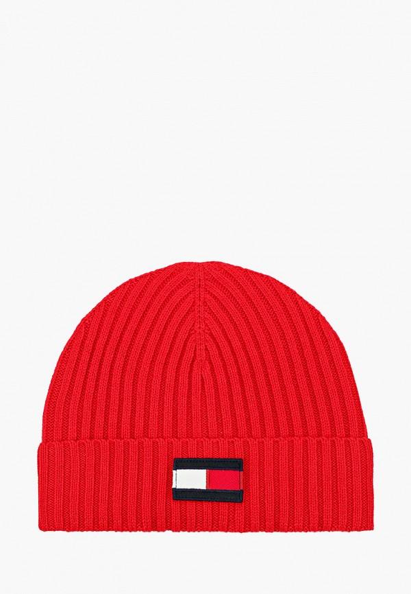 шапка tommy hilfiger для мальчика, красная