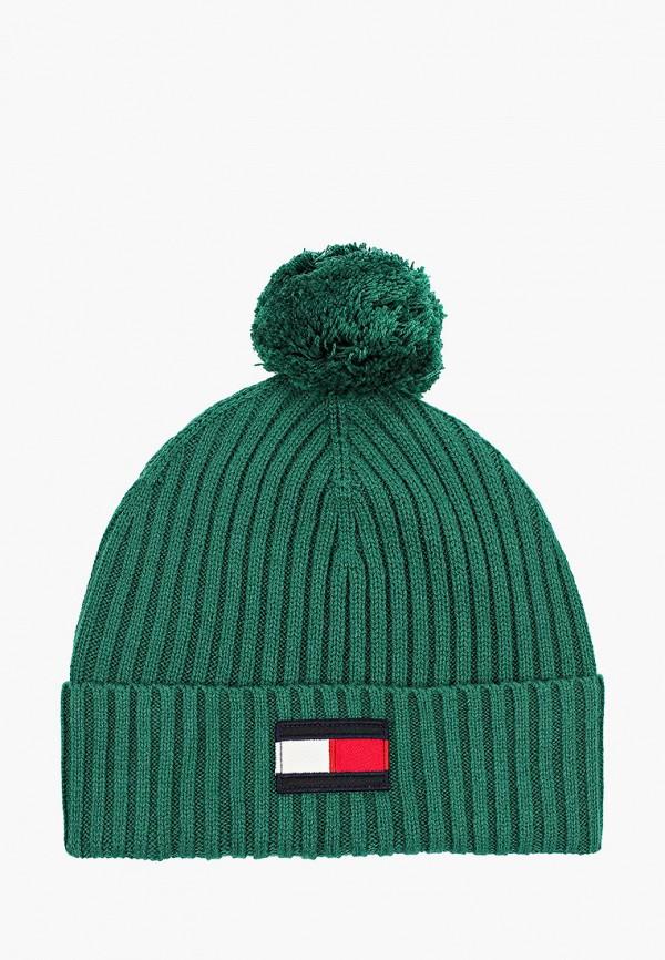 шапка tommy hilfiger для мальчика, зеленая