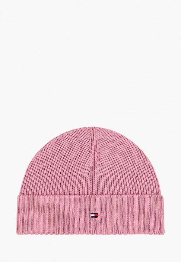 шапка tommy hilfiger для девочки, розовая