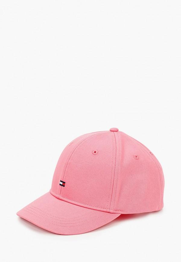 бейсболка tommy hilfiger для девочки, розовая