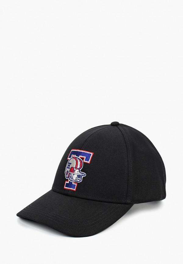 мужская бейсболка tommy hilfiger, черная