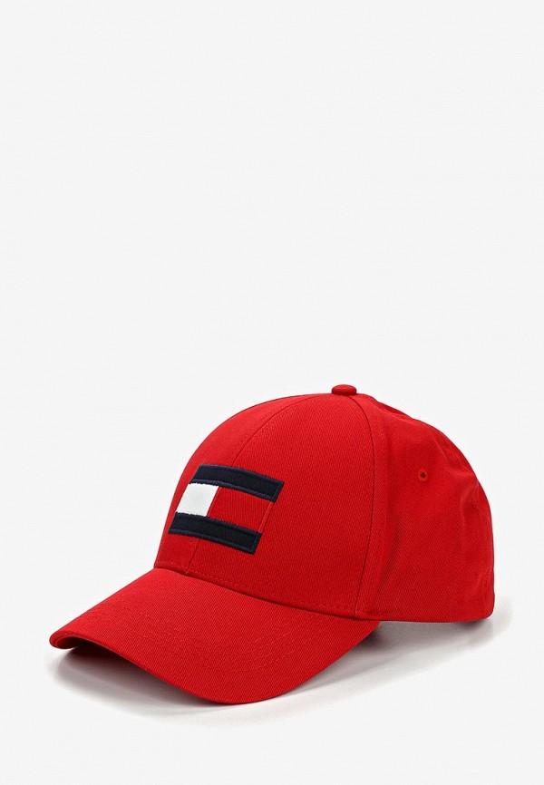 мужская бейсболка tommy hilfiger, красная