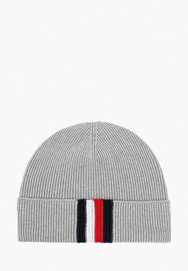 мужская шапка tommy hilfiger, серая