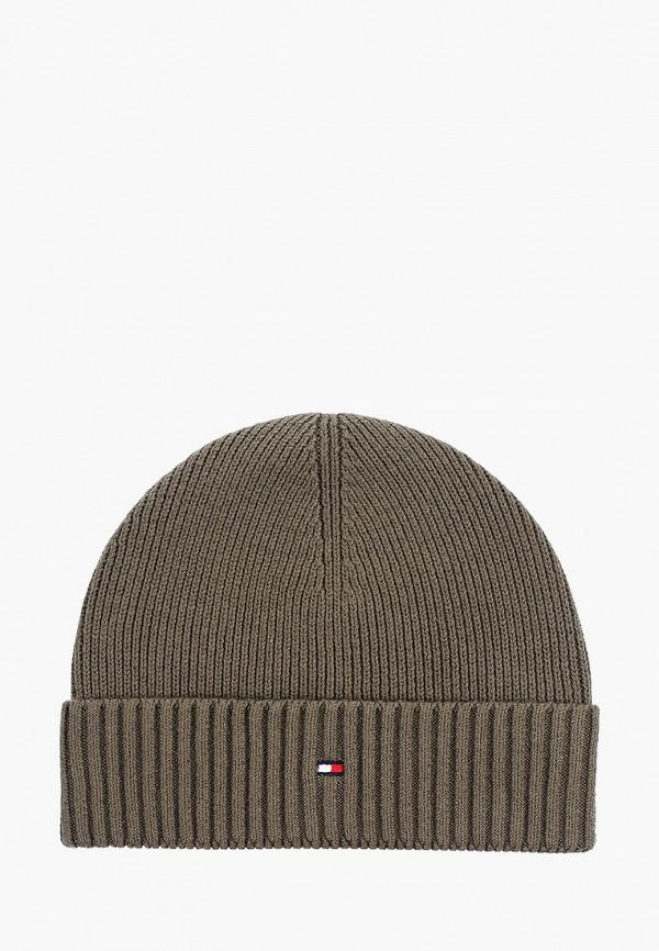 мужская шапка tommy hilfiger, хаки