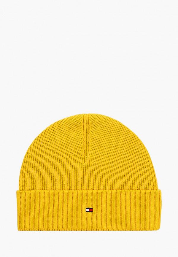 мужская шапка tommy hilfiger, желтая