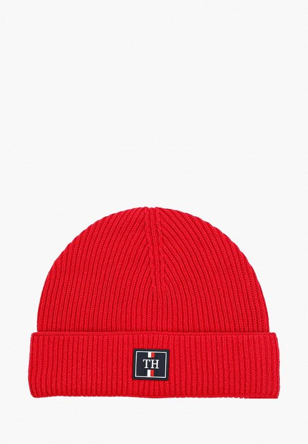 мужская шапка tommy hilfiger, красная