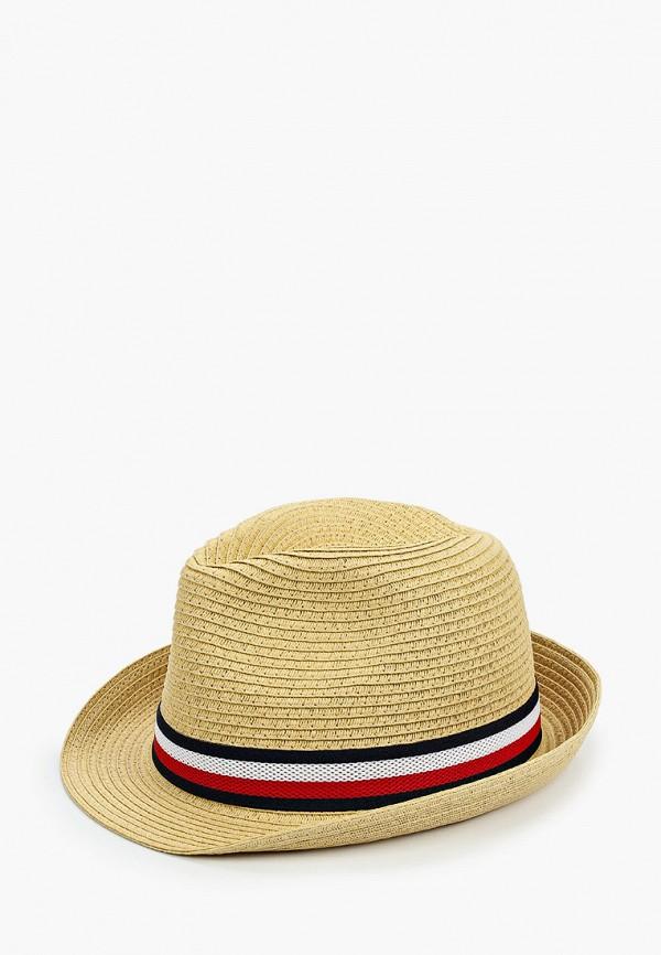 мужская шляпа tommy hilfiger, бежевая