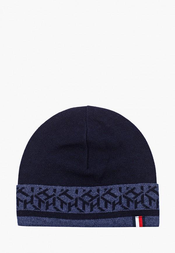 мужская шапка tommy hilfiger, синяя