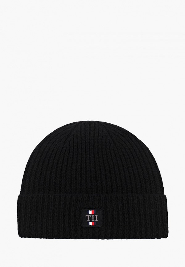 мужская шапка tommy hilfiger, черная