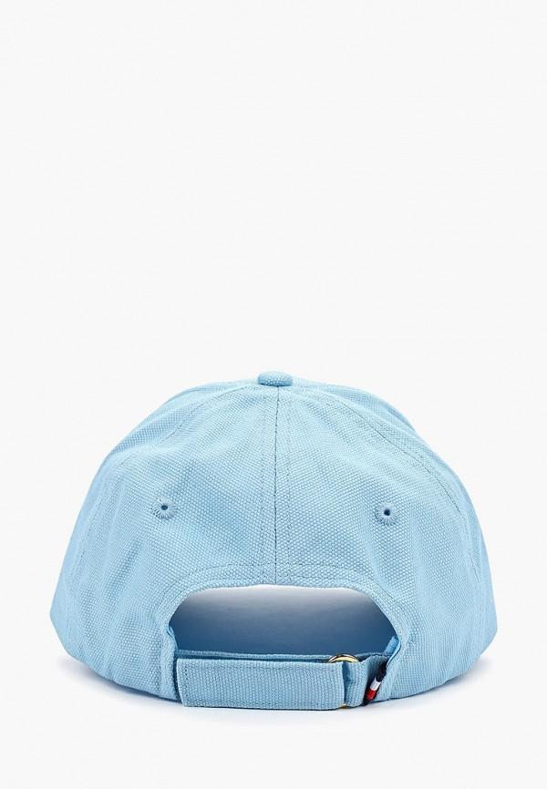 Фото 2 - женскую бейсболку Tommy Hilfiger голубого цвета