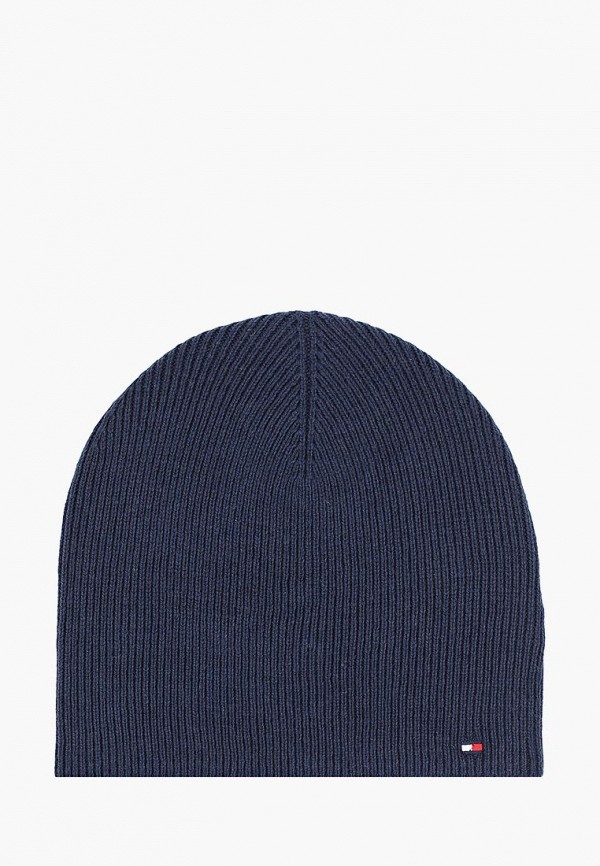 женская шапка tommy hilfiger, синяя