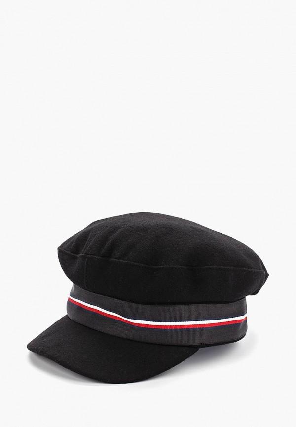 женская кепка tommy hilfiger, черная