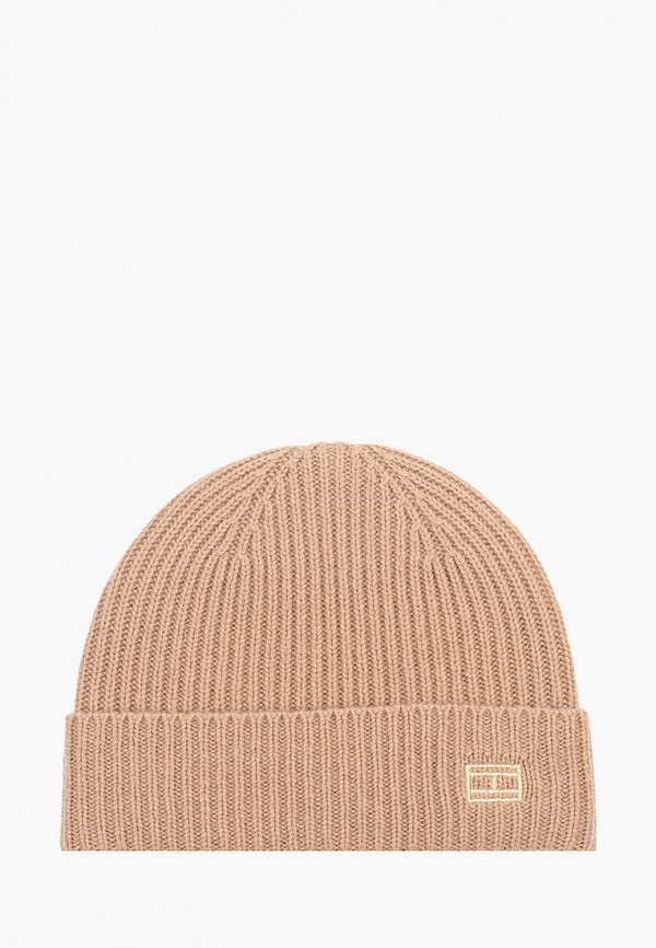женская шапка tommy hilfiger, коричневая