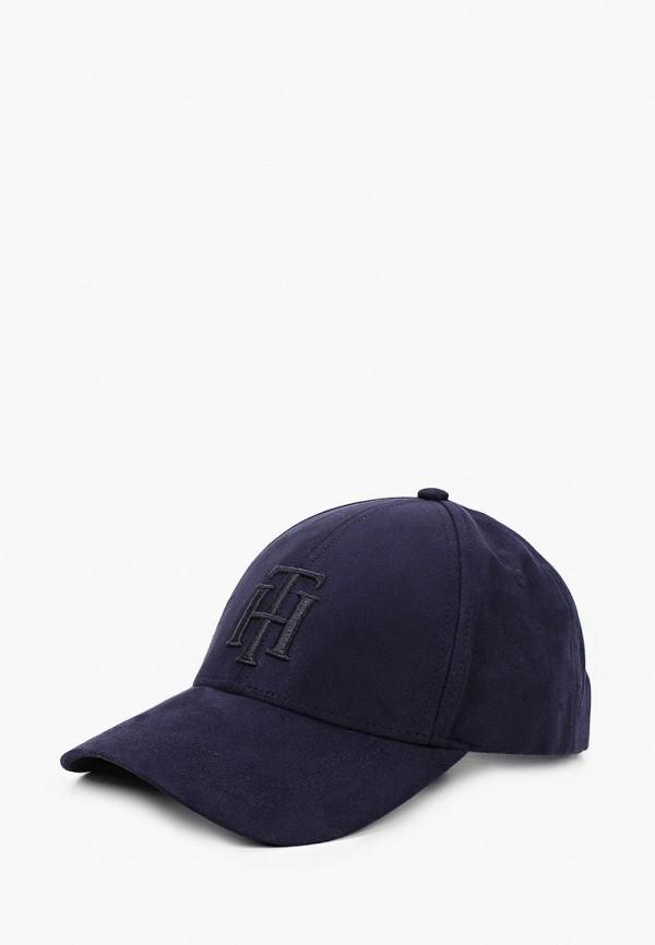 женская бейсболка tommy hilfiger, синяя