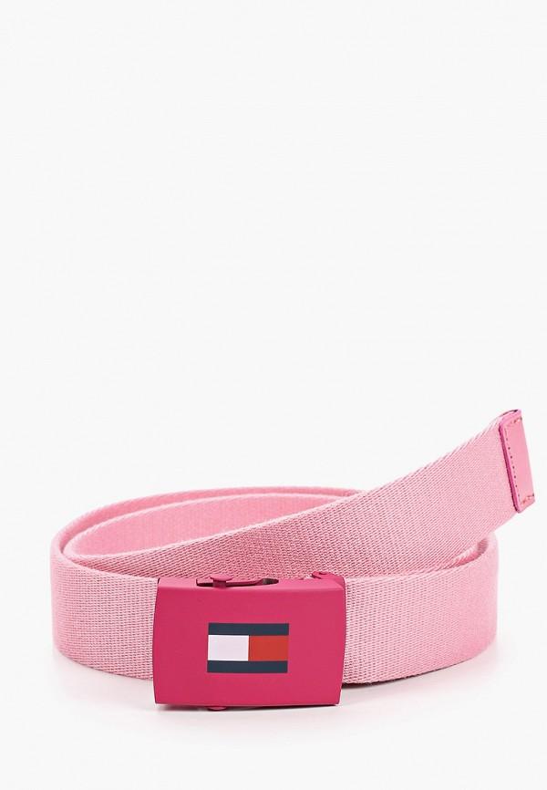 ремень tommy hilfiger для девочки, розовый