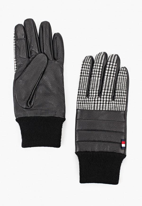 мужские перчатки tommy hilfiger, черные