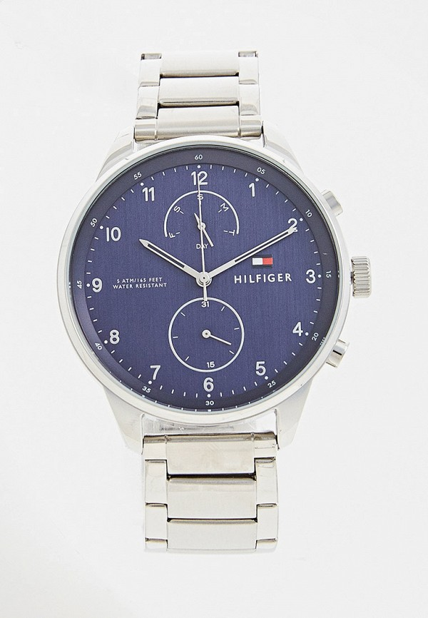 мужские часы tommy hilfiger, серебряные