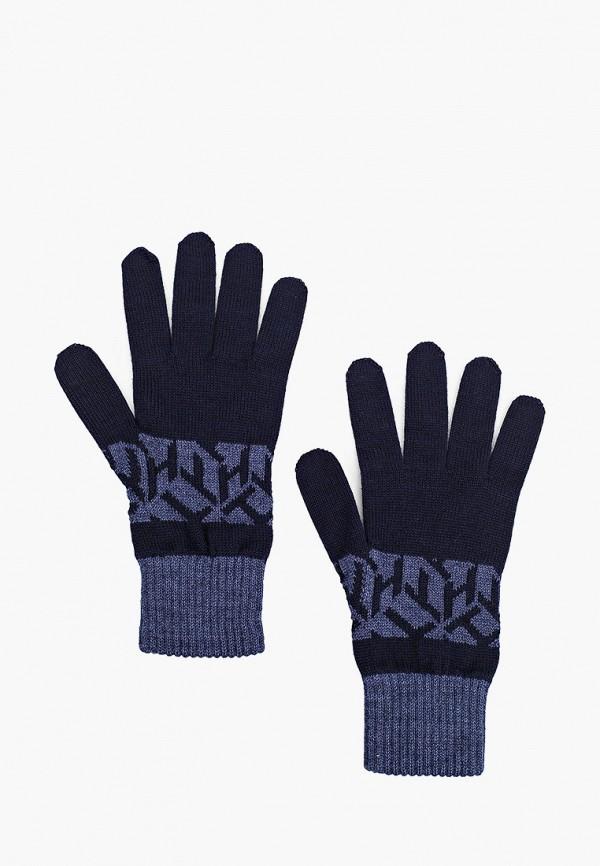 мужские текстильные перчатки tommy hilfiger, синие