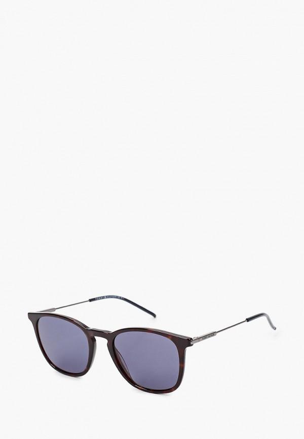 мужские круглые солнцезащитные очки tommy hilfiger, коричневые