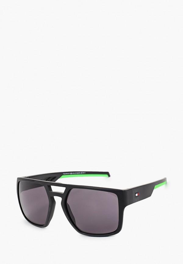 мужские авиаторы солнцезащитные очки tommy hilfiger, черные