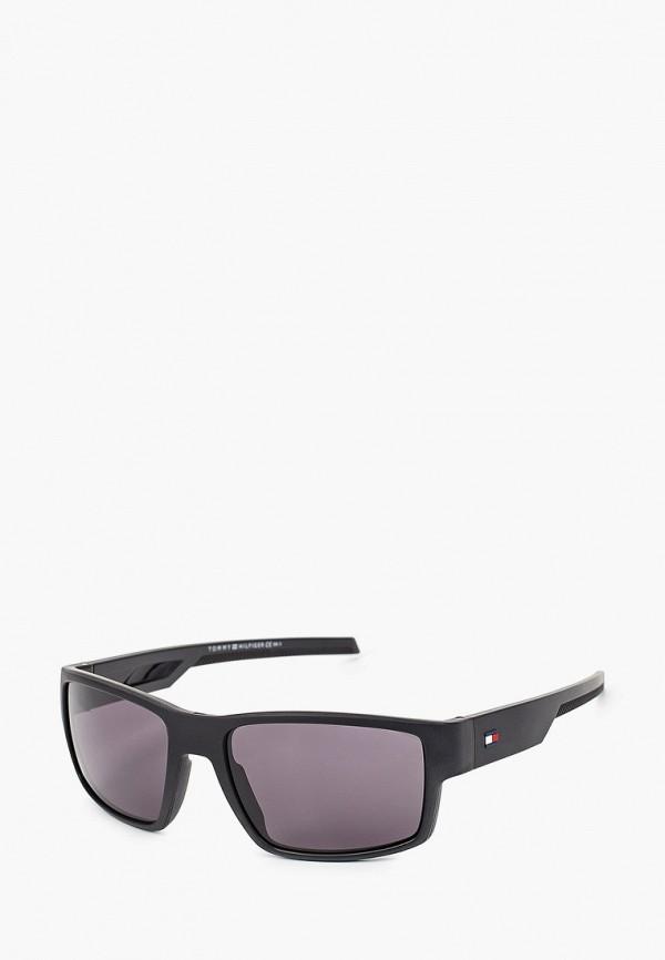 мужские квадратные солнцезащитные очки tommy hilfiger, серые