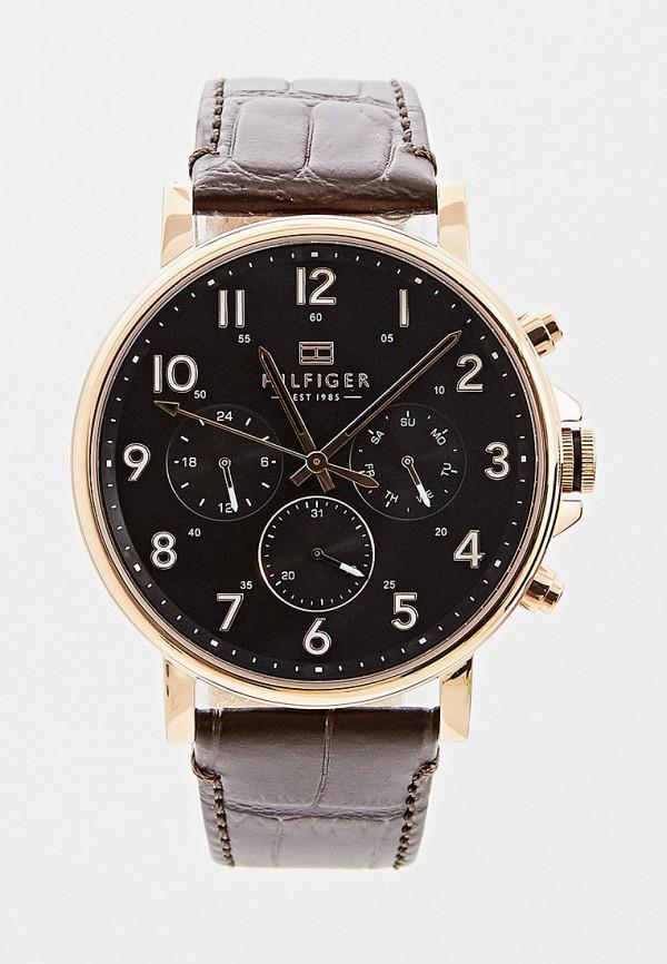 мужские часы tommy hilfiger, коричневые