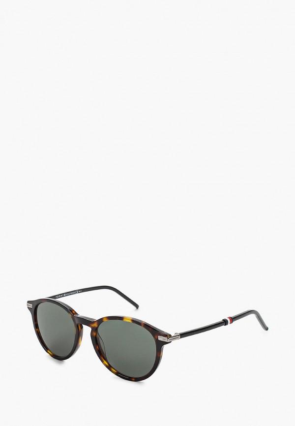 женские солнцезащитные очки tommy hilfiger, коричневые