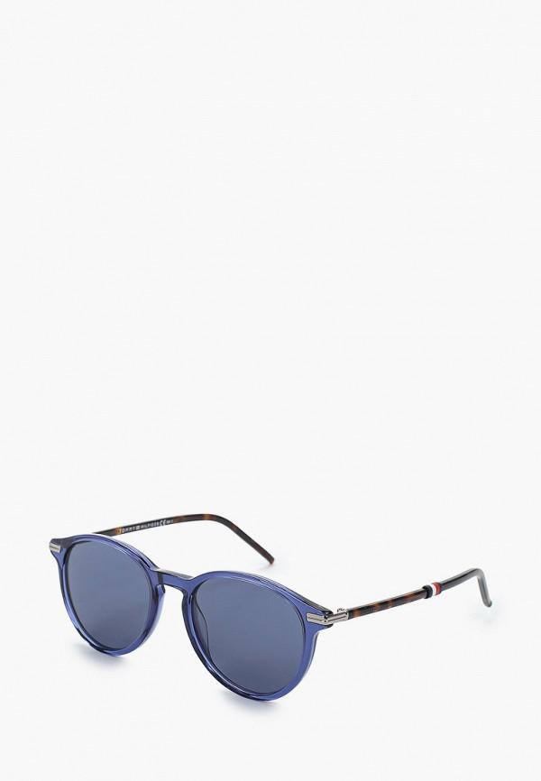 женские солнцезащитные очки tommy hilfiger, синие