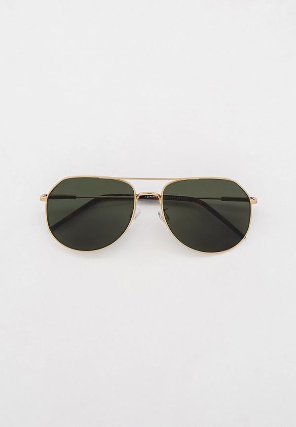 женские авиаторы солнцезащитные очки tommy hilfiger, золотые