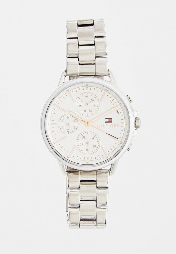 женские часы tommy hilfiger, серебряные
