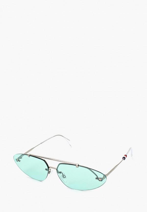 женские солнцезащитные очки tommy hilfiger, серебряные